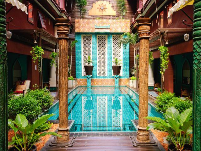 Бассейн в индийском стиле | Дизайн и стиль интерьера квартиры, дома, офиса от «Artinterior», Киев, artinterior.com.ua