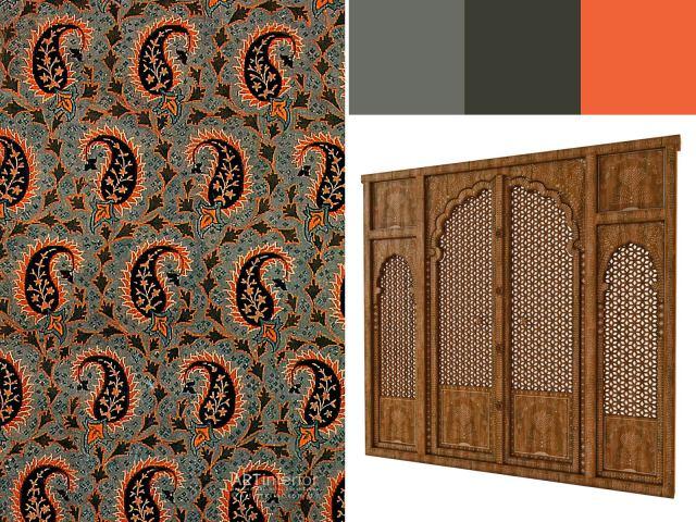 Индийский огурец и резная дверь | Дизайн и стиль интерьера квартиры, дома, офиса от «Artinterior», Киев, artinterior.com.ua