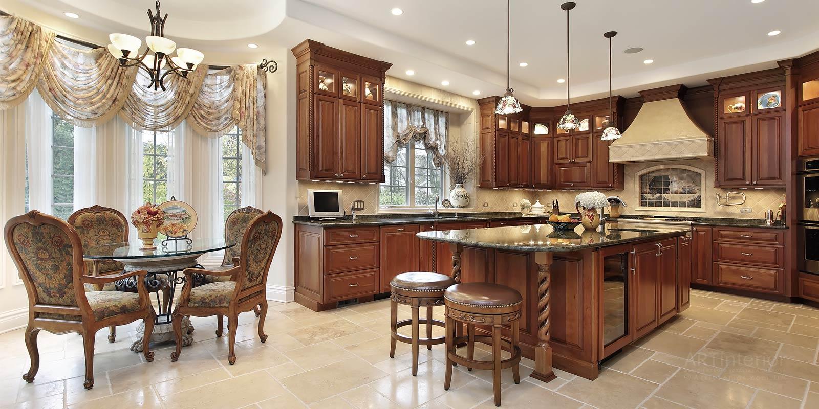 кухня классика | Дизайн и стиль интерьера квартиры, дома, офиса от «Artinterior», Киев, artinterior.com.ua