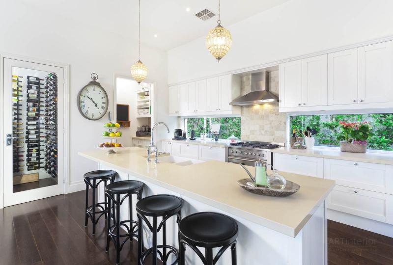 кухня с барной стойкой | Дизайн и стиль интерьера квартиры, дома, офиса от «Artinterior», Киев, artinterior.com.ua