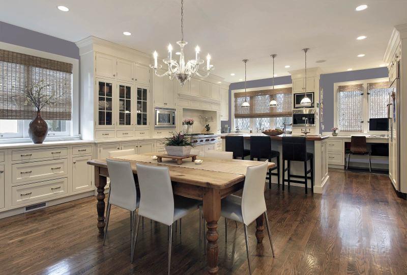 кухня с кабинетом | Дизайн и стиль интерьера квартиры, дома, офиса от «Artinterior», Киев, artinterior.com.ua