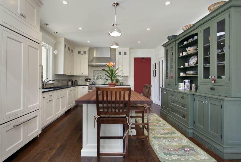 кухня с зоной хранения | Дизайн и стиль интерьера квартиры, дома, офиса от «Artinterior», Киев, artinterior.com.ua