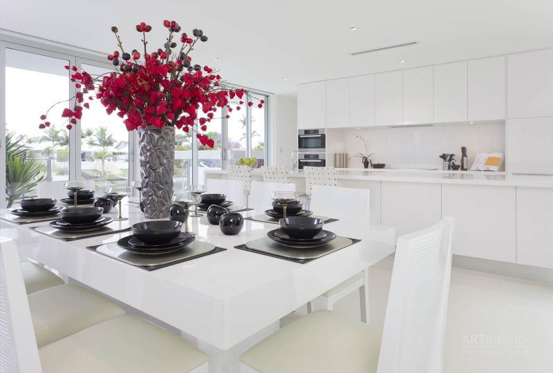 белая кухня | Дизайн и стиль интерьера квартиры, дома, офиса от «Artinterior», Киев, artinterior.com.ua