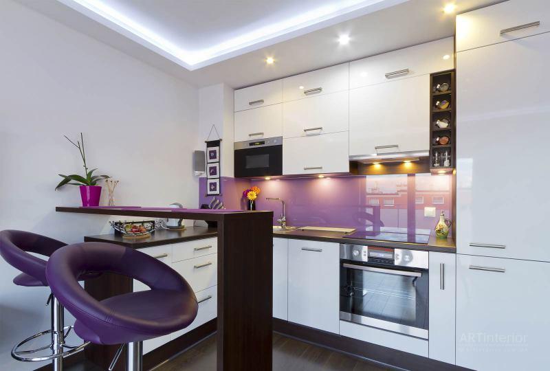 маленькая кухня | Дизайн и стиль интерьера квартиры, дома, офиса от «Artinterior», Киев, artinterior.com.ua