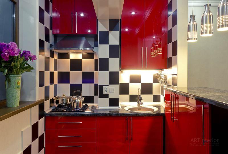 мини-кухня | Дизайн и стиль интерьера квартиры, дома, офиса от «Artinterior», Киев, artinterior.com.ua