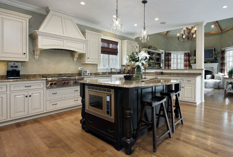 кухня с островом, островная | Дизайн и стиль интерьера квартиры, дома, офиса от «Artinterior», Киев, artinterior.com.ua