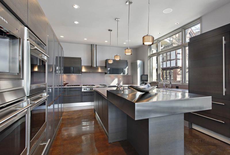 Хай-тек кухня | Дизайн и стиль интерьера квартиры, дома, офиса от «Artinterior», Киев, artinterior.com.ua