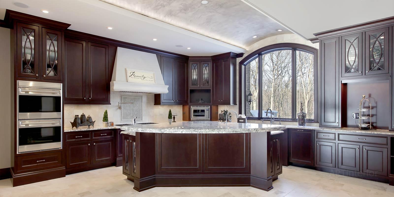 темная кухня | Дизайн и стиль интерьера квартиры, дома, офиса от «Artinterior», Киев, artinterior.com.ua