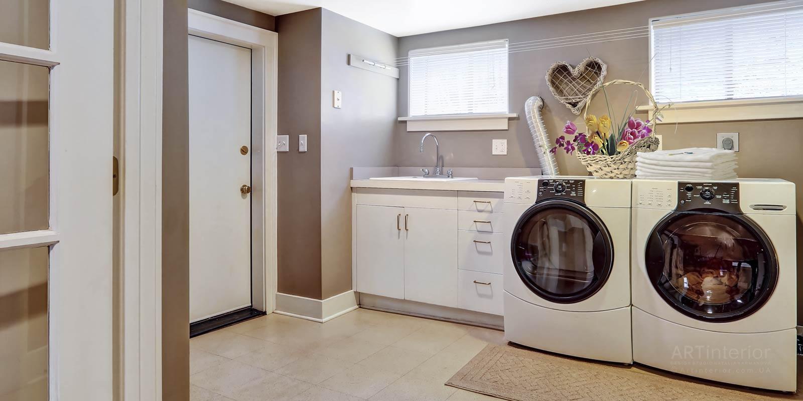 прачечная-постирочная комната | Дизайн и стиль интерьера квартиры, дома, офиса от «Artinterior», Киев, artinterior.com.ua