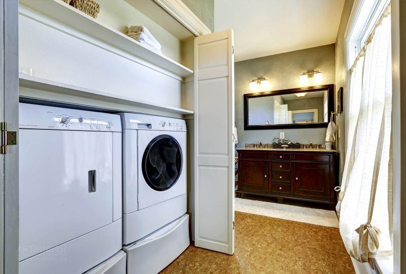 оборудование для постирочной, мебель, встроенная стиральная машина, сушка | Дизайн и стиль интерьера квартиры, дома, офиса от «Artinterior», Киев, artinterior.com.ua