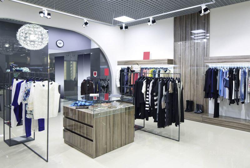 бутик , шоу-рум модной одежды | Дизайн и стиль интерьера квартиры, дома, офиса от «Artinterior», Киев, artinterior.com.ua